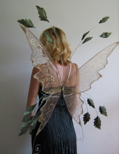 These Large leafy faerie wings are available in any colour