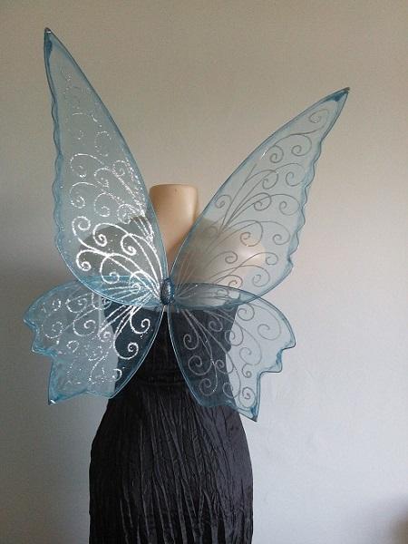 adult blue faerie wings